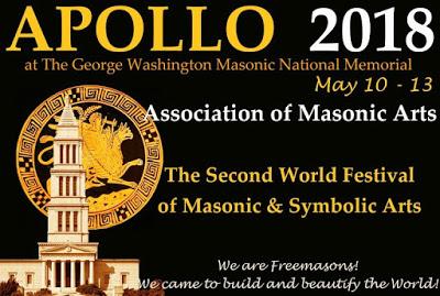 Apollo 2018 World Festival of Masonic Arts: May 10-13 at GW Memorial