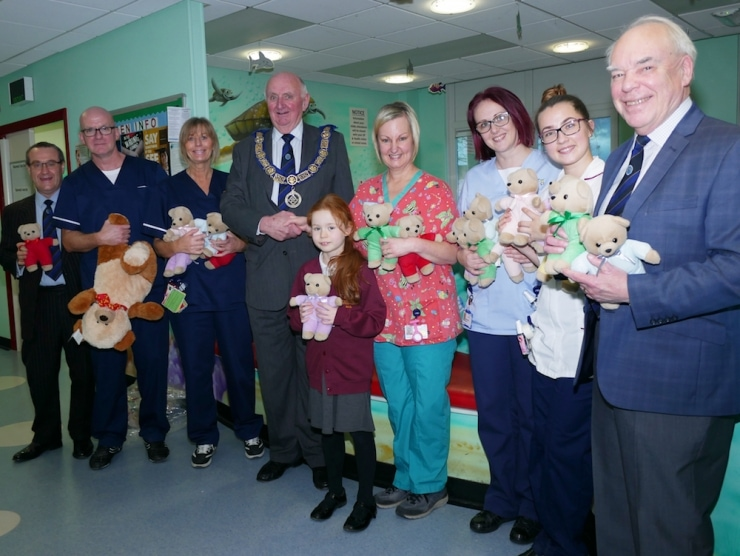 Durham Freemasons hand out 80,000 teddy bears to children in hospital
