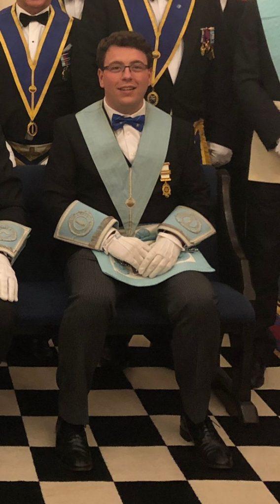Coun Gary Sambrook in his Masonic uniform.