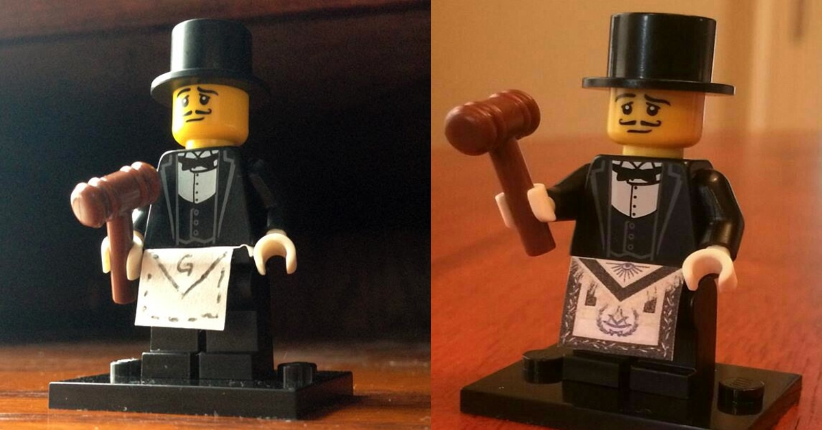 The First Lego Freemason?