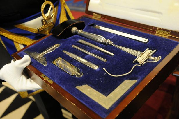 The ceremonial tools of the masons (Image: Peter Harbour)