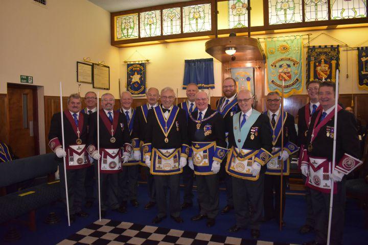 A meeting of Hindpool Lodge at the Barrow Masonic Hall