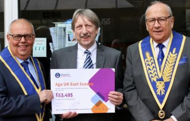 Freemasons give £54k to Age UK