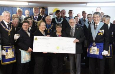 Hants County Masonic Lodges make major donation to Hants Community Hospital