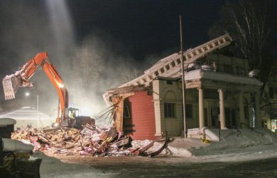 Roof collapses on historic Masonic Temple in Fairbanks
