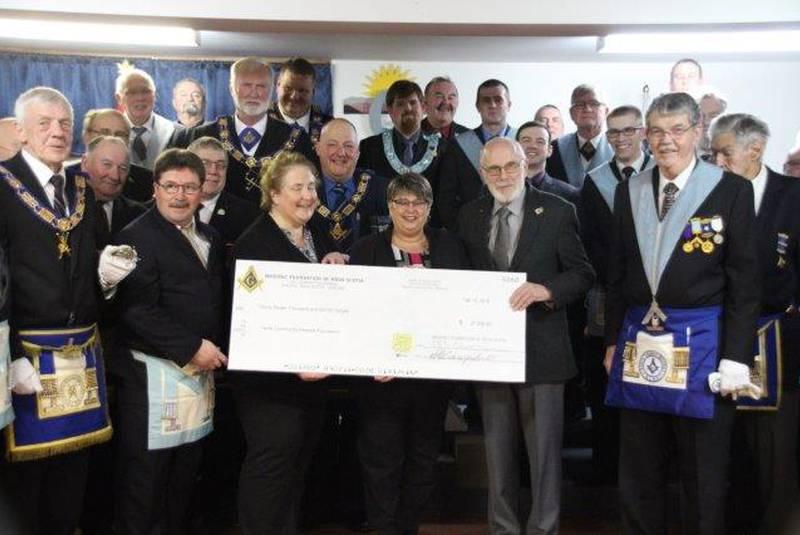 Hants County Masonic Lodges make major donation to Hants Community Hospital