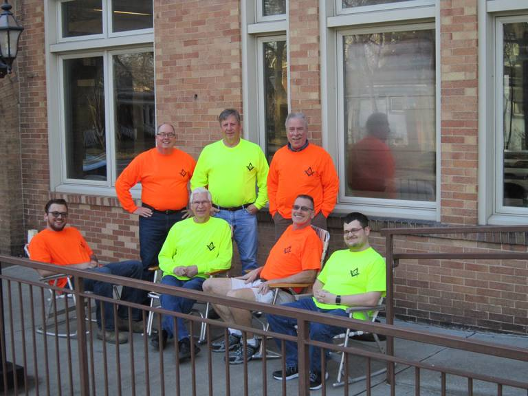 Masons will rock in chairs for 72 hours to raise funds for charity