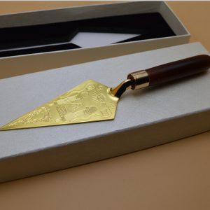 Masonic Trowel Master Mason Gold Plated