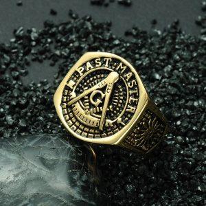 Past Master Masonic Signet Ring