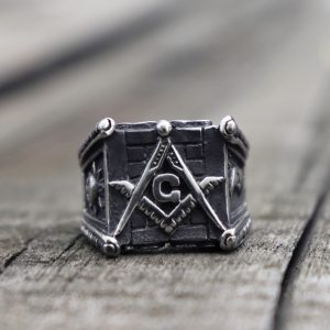 Vintage Masonic Freemason Stainless Steel Rings