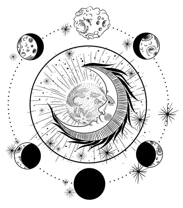 The Moon Masonic Symbols