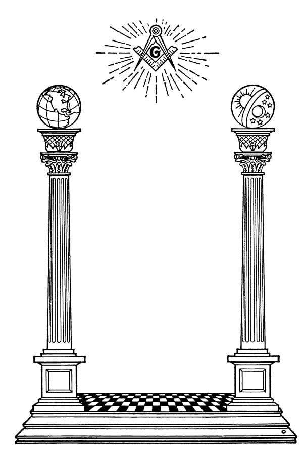 Two Masonic Pillars