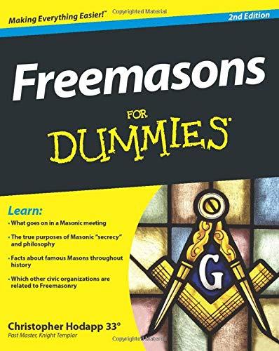 Freemasons for Dummies Masonic Books