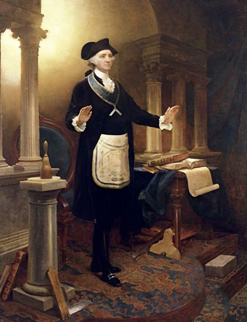 The painting of George Washington