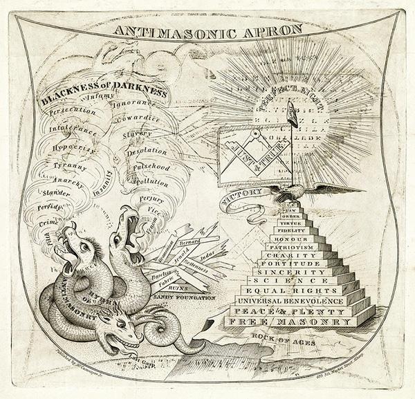 Antimasonic appron