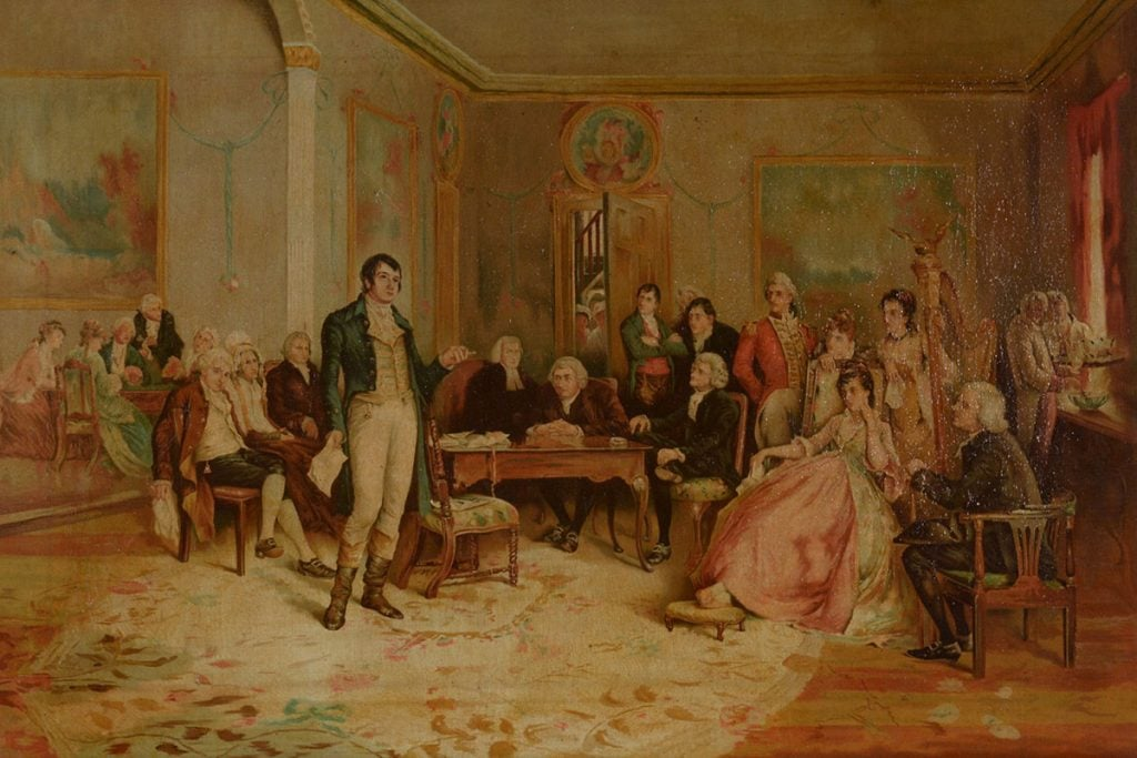 Burns' Farewell to Freemasonry