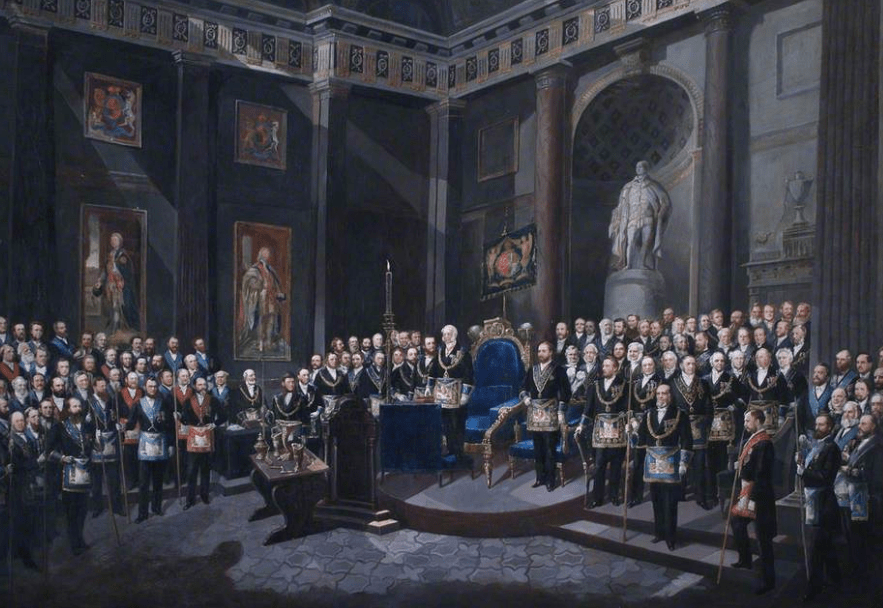 The Painting at the Library & Museum of Freemasonry at Great Queen Street. Credit: BBC